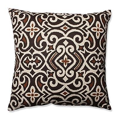 Pillow Perfect Decorative Damask Square Toss Pillow