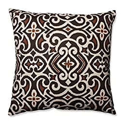 Pillow Perfect Brown/Beige Damask 24.5-Inch Floor Pillow