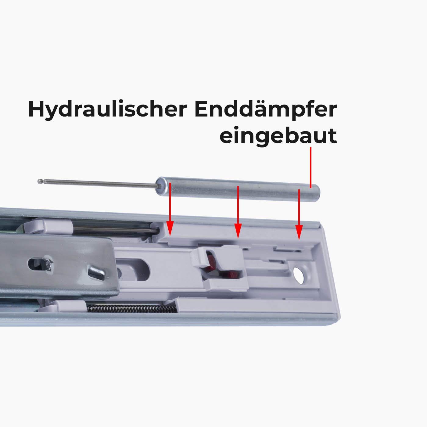 Ohne Soft-Close 35mm Nut 300 mm L/änge 1 Paar Schubladenschienen VOLLAUSZUG Auszugsschiene
