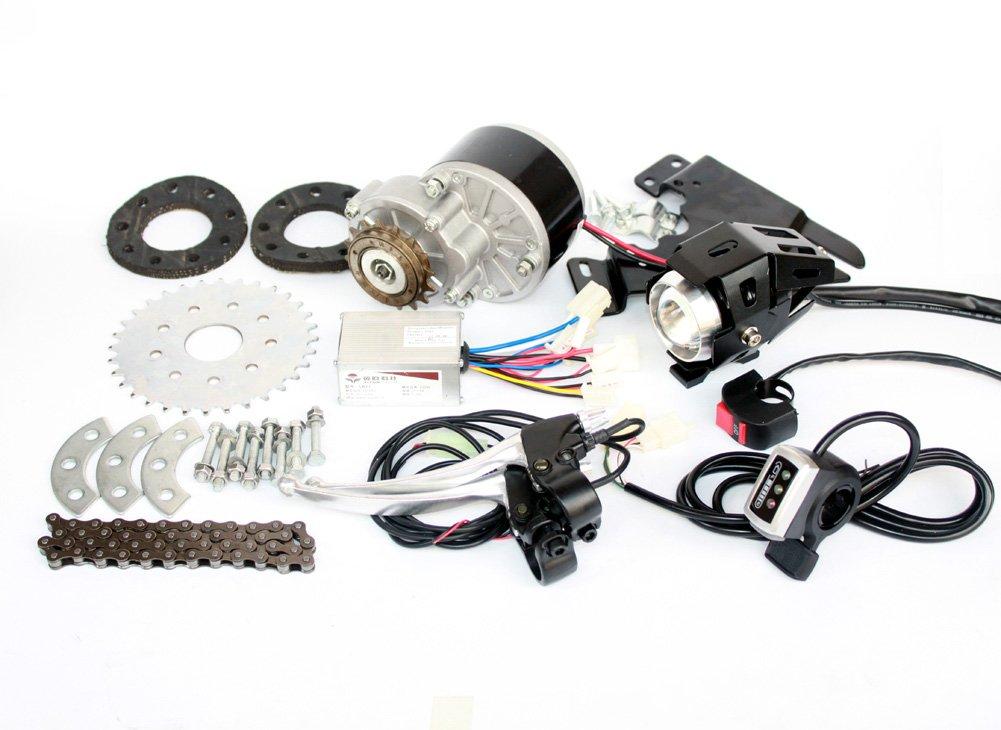 L-faster 250Wブラシバイクモーターキットリアホイールスポークギアスプロケット左側サイドチェーンドライブモデル格安DIY E-自転車用ソリューション [並行輸入品] B076D78Z76 Thumb Kit Thumb Kit