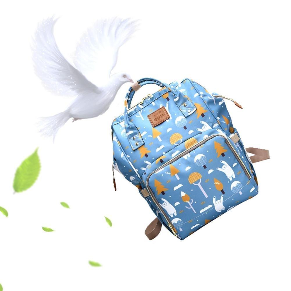 Mochila de viaje de m/últiples funciones Bolso de pa/ñales para el cuidado del beb/é con bolsillos aislados Mochila duradera de gran capacidad Bolso impermeable de la momia de la bolsa de pa/ñales