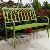 Innova Lakeside Urban Green Steel Bench For Sale