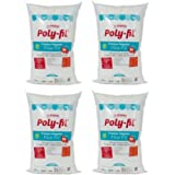 Fairfield the Original Poly-Fil Premium 100% Polyester Fiber Fill Bag, 50 Ounces - 4 Pack