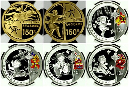 - CN 2008 China 2008 Beijing Olympic Set 6 Gold Silver Coin PF 68-70 Ultra Cameo