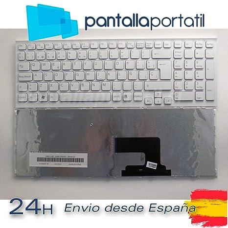 Desconocido Teclado español para Sony VAIO VPC-EH3F1E Blanco (con Marco)