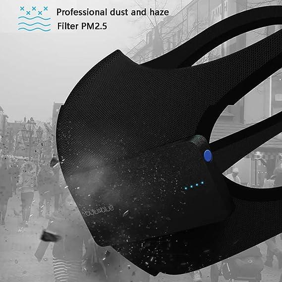 Inteligente Quiet Nanomateriales Breathe Filtro ZY Cara Purificador De Aire con Ventilador USB Facial Aislar Haze Prueba De Polvo Prevenir Fliter Aire Splash para Uso Al Aire Libre