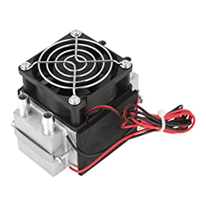 40mm Semiconductor Refrigeration Cooler, 12V 5A Thermoelectric Peltier Water Cooling System, Dual TEC1-12710 Cooler Super Strong Heatsink Fan Kit for Two Chip Meanwhile Heat Dissipation