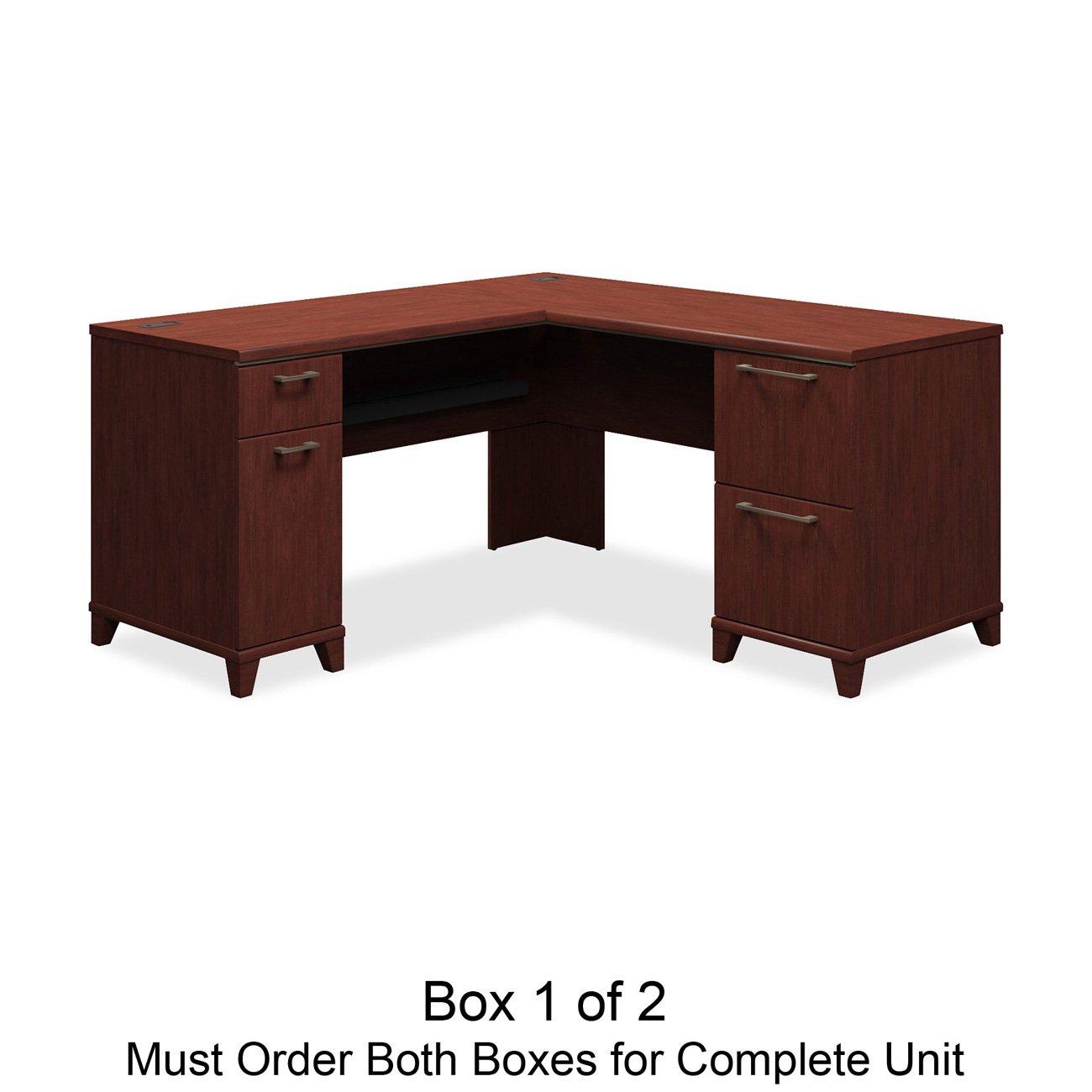 Bush L Desk Part - 37: Amazon.com: Bush L-Shaped Desk, 60-Inch By 60-Inch By 30-Inch, Mocha:  Kitchen U0026 Dining