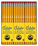 iScholar Gross Pack Pencils, 2, Yellow, Box of 144 (33144)