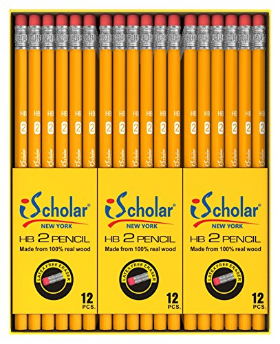 iScholar Gross Pack Pencils, #2, Yellow, Box of 144 (33144) for $<!--$7.00-->