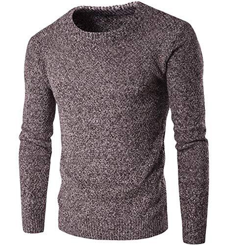 f709dee697bb8 Chauds Épais Tricoté Homme Tricoter La Et Casual Mode Fit Pulls Brown Hiver  Slim De À ...
