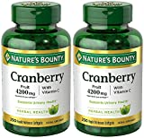 Cranberry with VIT C 4200 mg, 250 Softgels (2 Bottles)