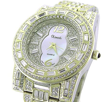 wow new 18k plated men women swarovski bling watch amazon co wow new 18k plated men women swarovski bling watch amazon co uk watches