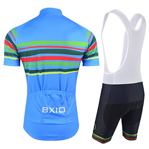 8cd44c5c6 BXIO Cycling Jerseys - Breathable Short Sleeve Bike Jersey with 3D Gel Pad  Bib Shorts for Pro Bicycle Team Clothing  Amazon.co.uk  Sports   Outdoors