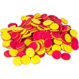 hand2mind 77480 Foam, Round, Two-Color Counters, Quiet Math Tokens, 30 Packs of 20 Counters (Set of 600)
