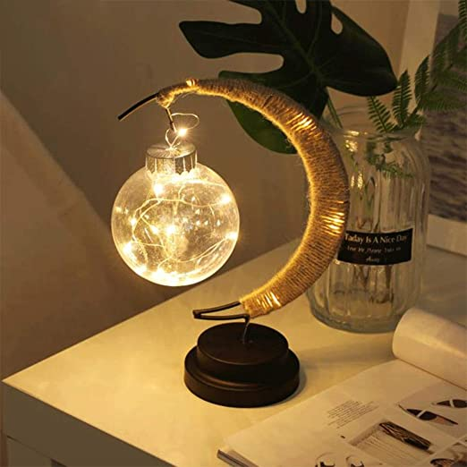 Wankd Lámpara de Luna, Luz Nocturna LED, lampra de mesa, Lamparas ...