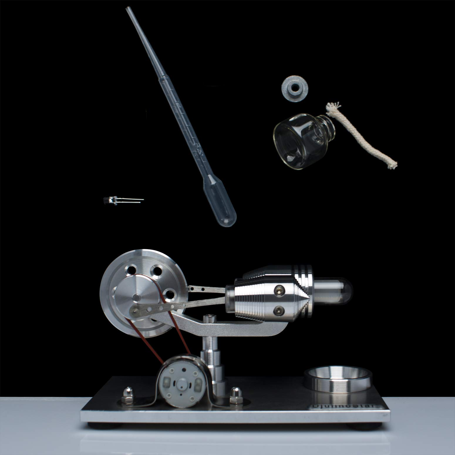 DjuiinoStar Hot Air Stirling Engine, Solid Metal Construction, Electricity Generator(Assembled), My First Stirling Engine by DjuiinoStar (Image #7)