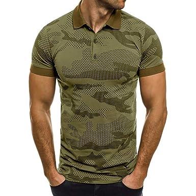 Camiseta para Hombre, Verano Polo Camuflaje Camiseta Deporte Manga ...