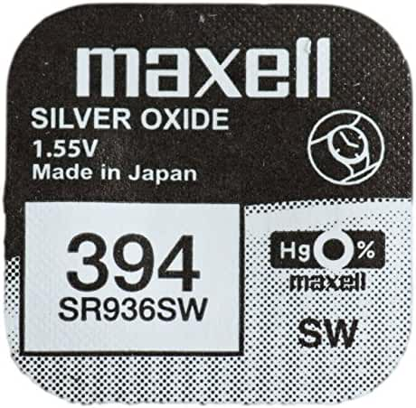 One (1) X Maxell 394 SR936SW SB-A4 Silver Oxide Watch Battery 1.55v Blister Packed
