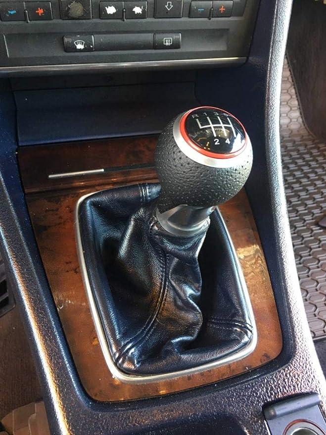 Color : Black CHEdnh-Hk Schalthebel 6 Geschwindigkeits-Auto-Handbuch Schaltknauf PU-Leder-Abdeckung for Audi A4 S4 8K A5 8T Q5 8R S-Line 2007-2015 f/ür Kfz-Schalthebel