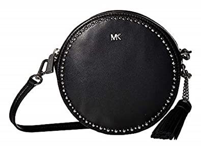 0dac339707c305 Image Unavailable. Image not available for. Color: MICHAEL Michael Kors  Medium Canteen BLACK Cross-Body Bag