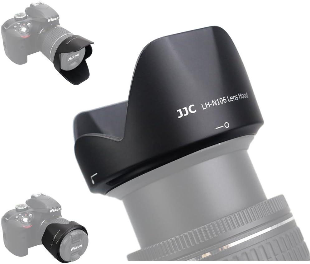 /55/mm AF-P VR /& Non VR D3400 /Compatible parasol como HB-N106/para Nikon 18/ Maxsimafoto/