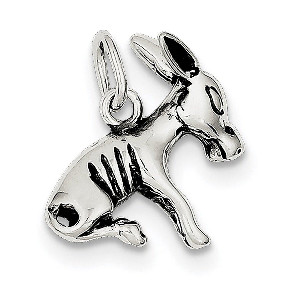 Lex & Lu Sterling Silver Donkey Charm