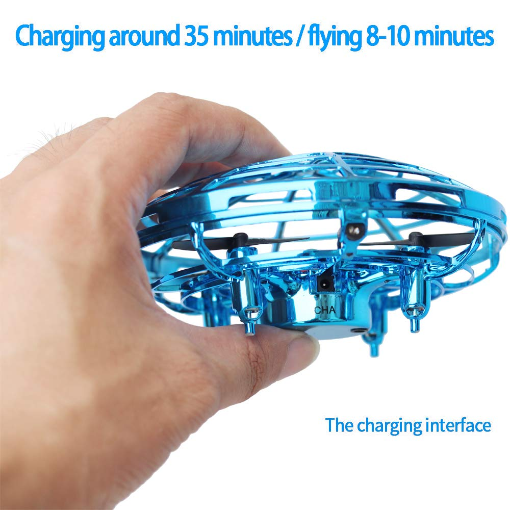 Kids Drone Toy, Flying Toys, Hand Control Drone for Kids Adults, Mini Flying Ball Helicopter with LED Light, Indoor Small Orb Flying Ball Drone Toys Gift for Boys or Girls, 360° Rotating Fun UFO Hover by BooTaa (Image #5)
