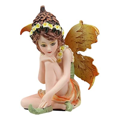 "Ebros Gift Enchanted Fairy Garden Acorn Summer Faerie Figurine 3"" H Miniature Figurines Collection Do It Yourself Ideas for Your Home Collectible Fairies Elf Nymph Pixies Fantasy Decor Sculpture: Home & Kitchen"