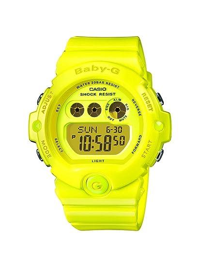 CASIO Baby-G BG-6902-9ER - Reloj Digital de Cuarzo con Correa de Resina para Mujer (luz, Alarma, cronómetro), Color Amarillo: Amazon.es: Relojes