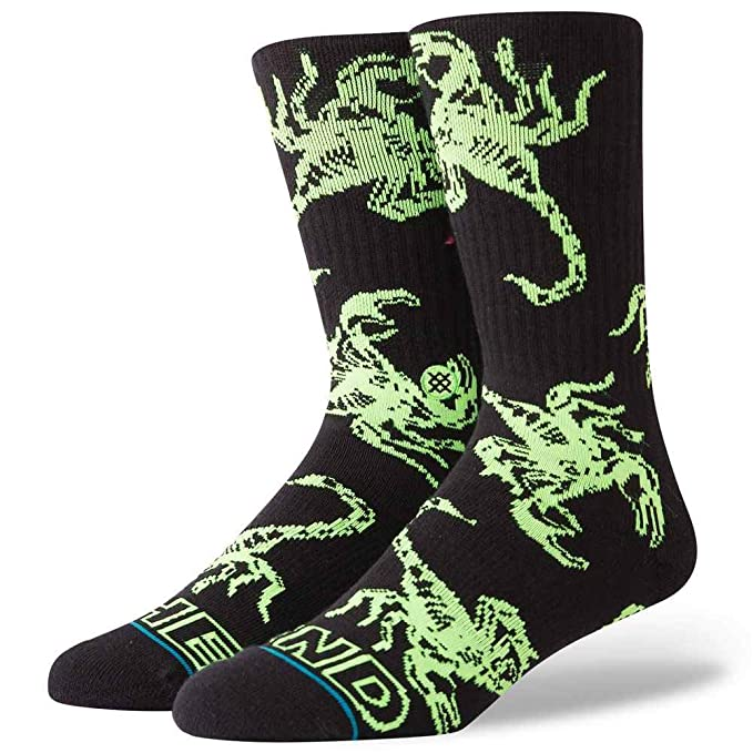 Stance Calcetines The End Classic Medium Cushion negro/verde talla: 38 al 42 EU