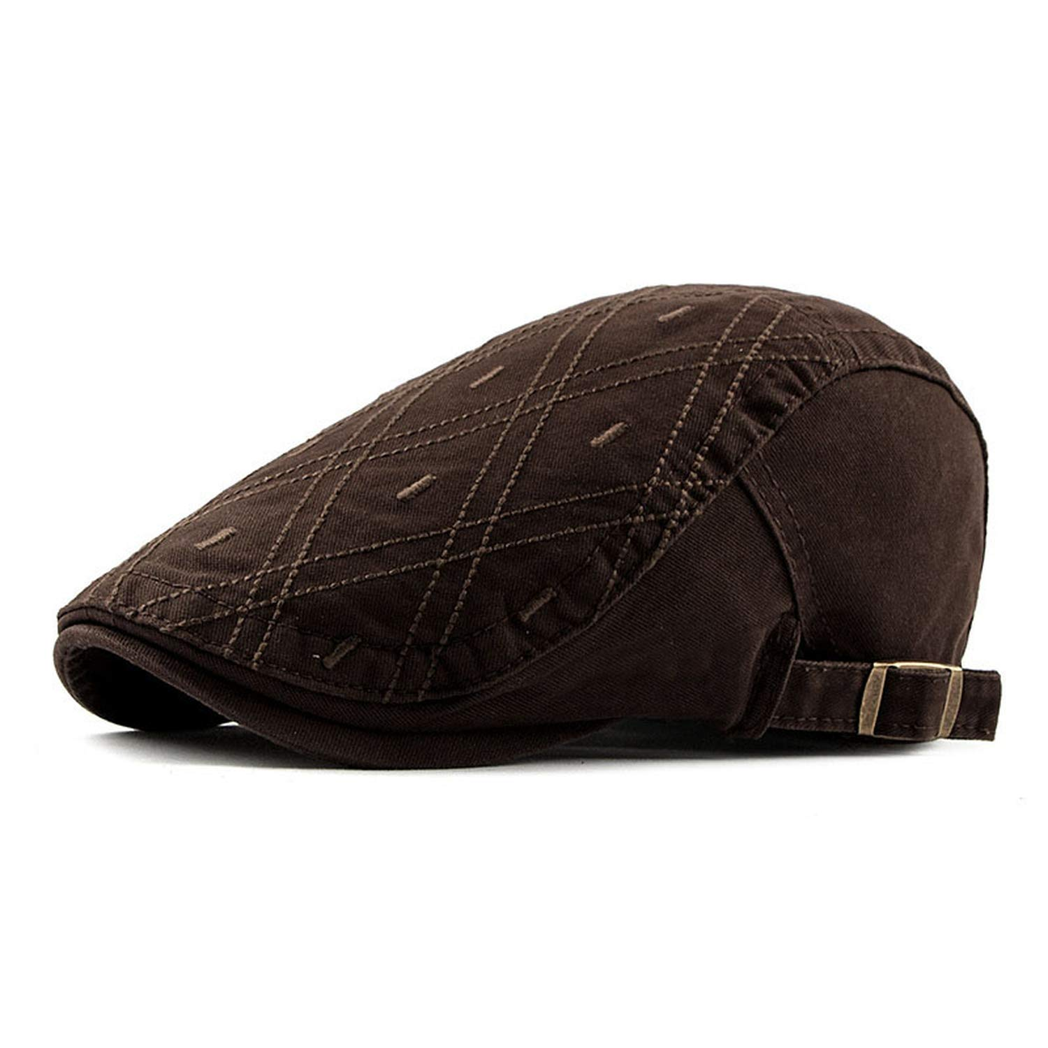 2019 New Men Womens Berets French Style Plaid Cabbie Flatcap Spring Summer Newsboy Caps