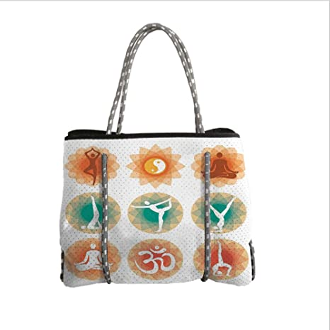 Amazon.com  iPrint Neoprene Multipurpose Beach Bag Tote Bags a8d9f2faf7a0a