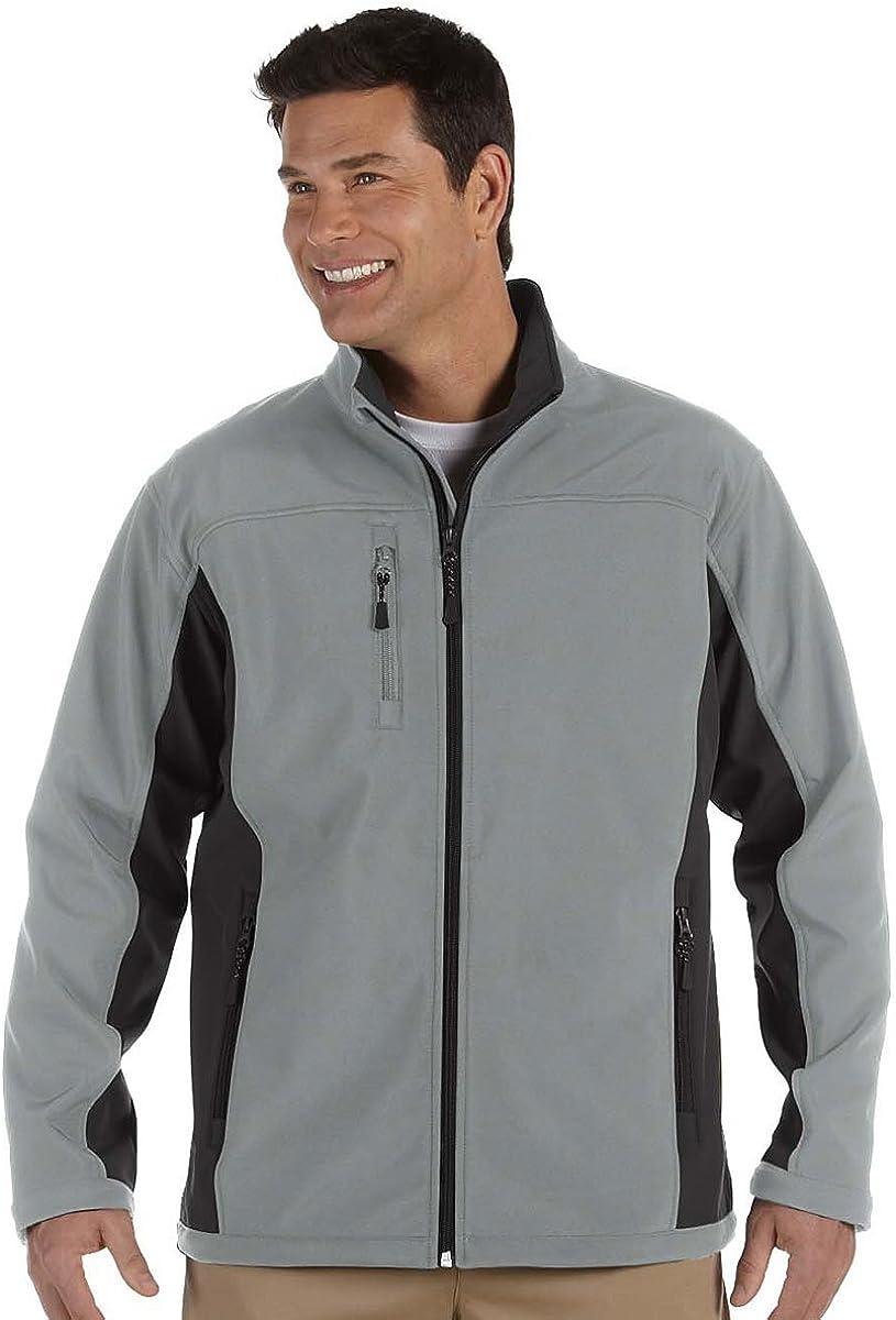 Black// Dark Charcoal D997 S Devon /& Jones Mens Soft Shell Colorblock Jacket