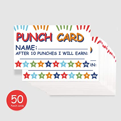 punch card incentive reward card business fun home education for kids students teachers parents 35 - Business Punch Cards