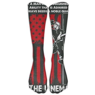 Coring Women & Men Lineman Athletic Socks Classic Soft Tube Stocking 1 Pair