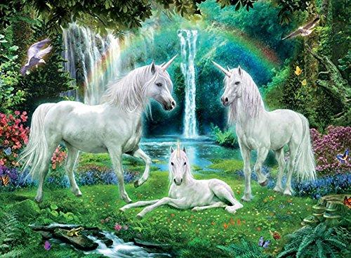 (Unicorns Rainbow and Unicorn Family Jigsaw Puzzle)