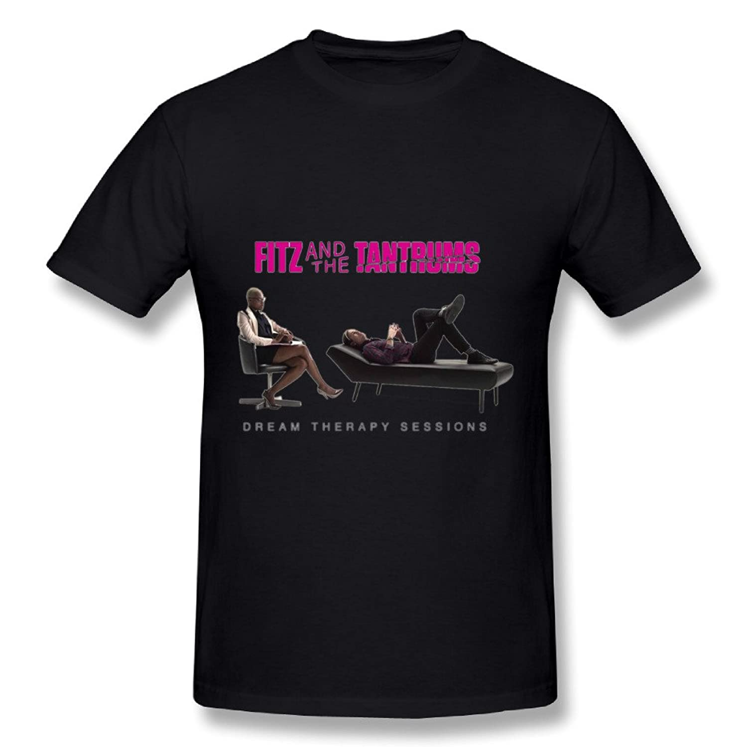Best Black T Shirt For Men Indie Pop Neo Soul Band Fitz & The Tantrums Tour Poster