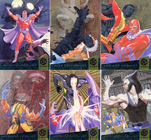 X-MEN 1994 FLEER ULTRA LIMITED EDITION FATAL ATTRACTIONS LIMITED ED. INSERT CARD SET OF 6 MARVEL ()