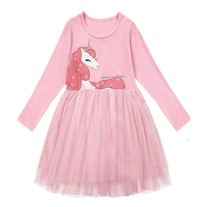 Amazon.com: Chitop Dot Long Sleeve Dress Girls Clothing - Child ...