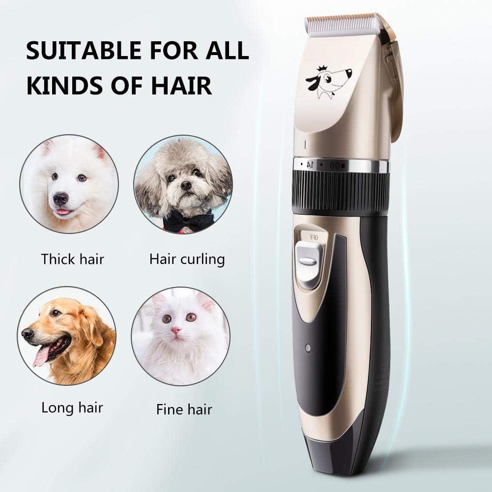 la grupa juego de cortapelos inal/ámbrico recargable para mascotas la cara Kit de aseo para perros de bajo ruido las orejas los ojos para recortar el pelo del perro alrededor de las patas