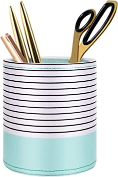 US Pen Holder Pencil Scissor Pot Stationery Container Desk Dustbin Organizers 1x