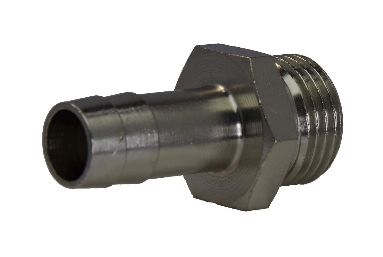 G 1//8-4 mm 16 bar Werkstoff Messing vernickelt Gewindet/ülle Gewinde