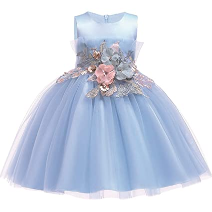 5418ea8d72cf Amazon.com: 2019 Lace Sequins Formal Evening Wedding Gown Tutu Princess  Dress Flower Girls Children Clothing Kids Party for Girl Clothes,Picture  Color10,9: ...