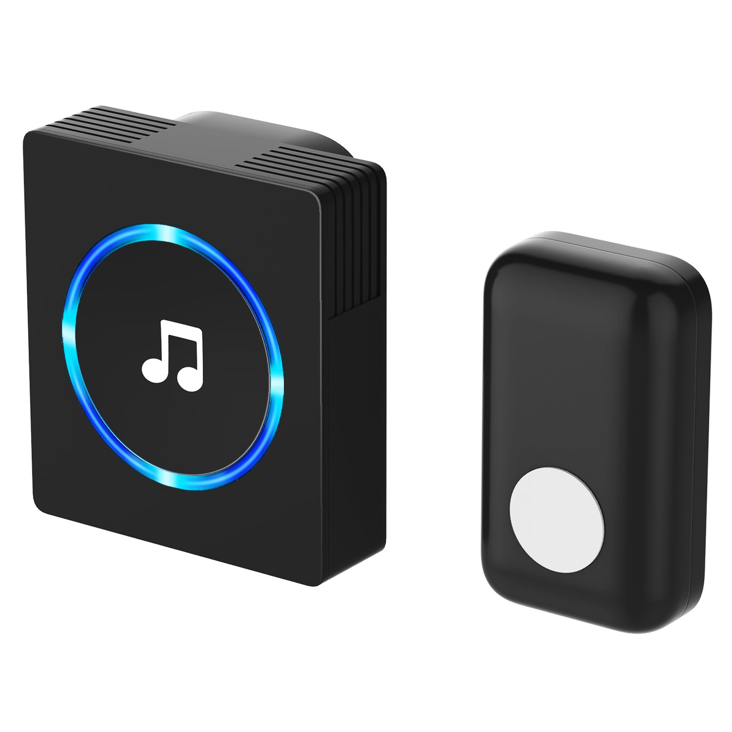 Chime JETech Portable Wireless DoorBell Chime Plug in Push Button