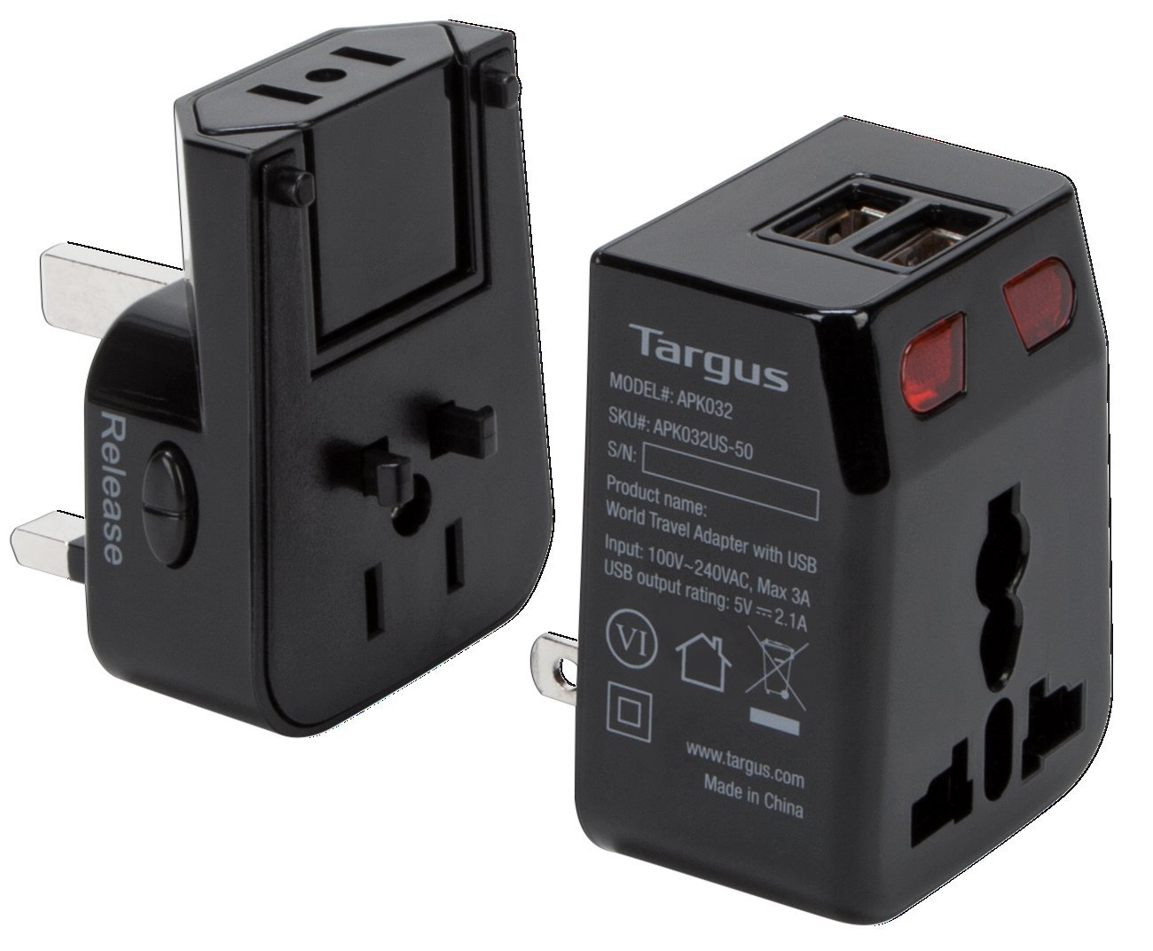 Targus World Travel Power Adapter with Dual USB Charging Ports for Laptops, Phones, Tablets, or Other Mobile Devices (APK032US) by Targus (Image #4)