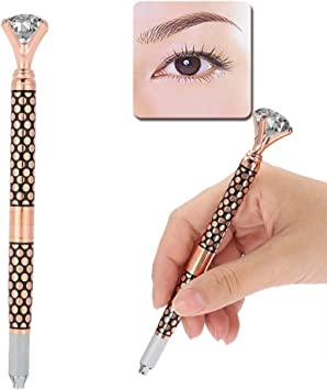 Pluma de tatuaje manual, desmontable ceja de cristal Eyeliner Lip ...