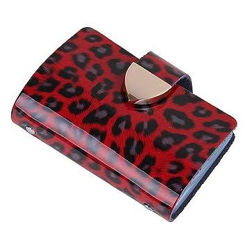 Eudola Porte Cartes 26 Fentes Titulaire De La Carte Visite Mode Leopard