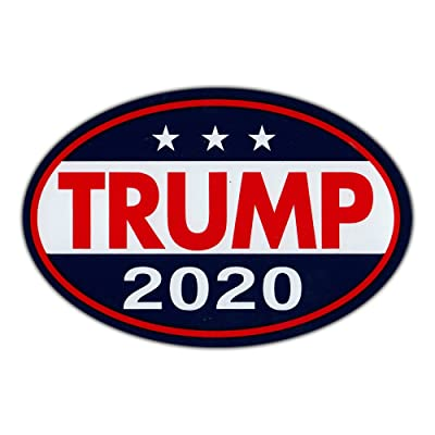 """Oval Shaped Magnet - Donald Trump for President 2020 - Republican Party Magnetic Bumper Sticker - 6"""" x 4"""": Automotive"""