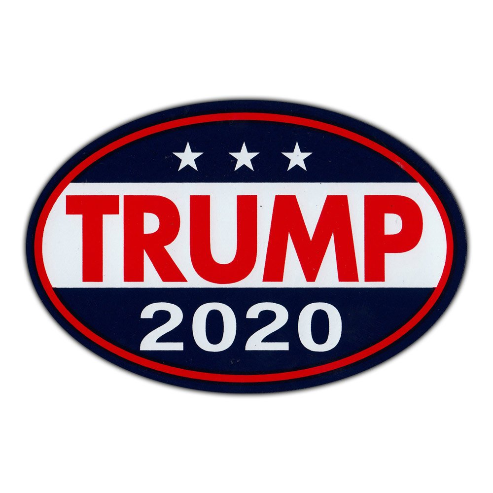 Republican Party Magnetic Bumper Sticker Donald Trump For President 2020 6 x 4 Oval Shaped Magnet